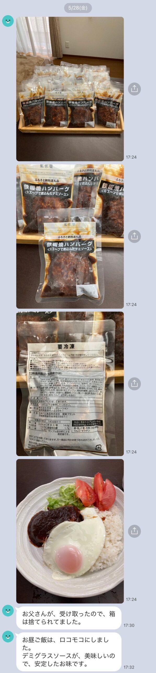 ふるさと納税_鉄板焼ハンバーグ